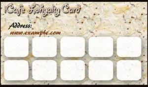 Example loyalty card