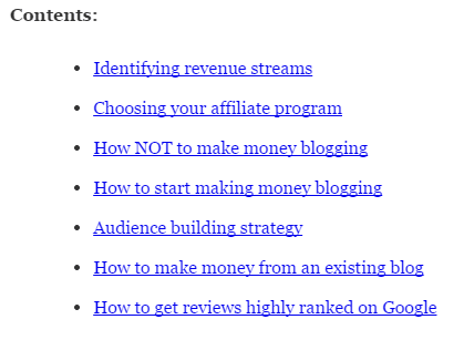How to make money blogging contents