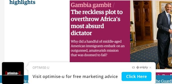 Snip.ly appearing on the guardian